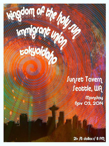 Tokyoidaho // 3 Nov 2014 // Sunset Tavern, Seattle WA