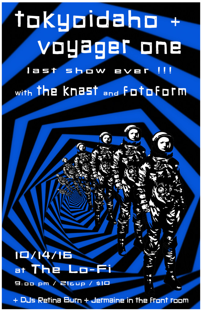 Tokyoidaho and Voyager One - Final Show with The Knast and Fotoform - Lo-Fi Seattle 14 October 2016 - A Neon Sigh Event