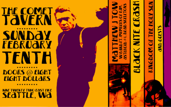 Black Nite Crash, Kingdom of the Holy Sun, Golden Gardens. 10th Feb 2013