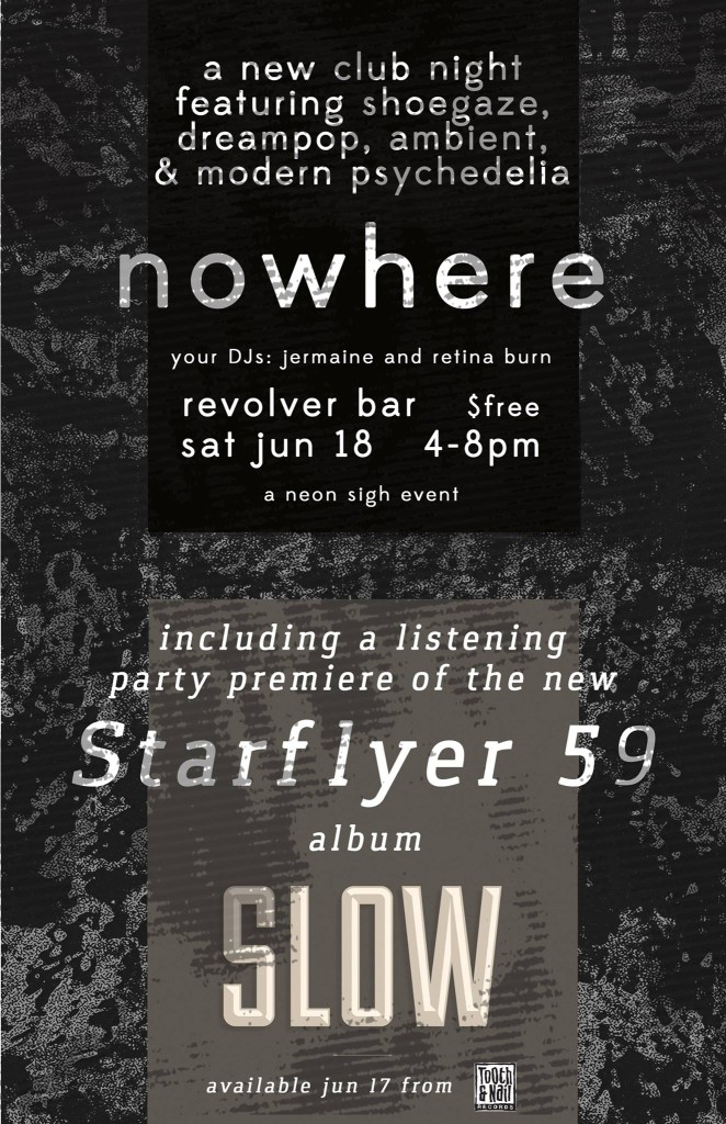 "NOWHERE and NEON SIGH present Starflyer 59 ""SLOW"" vinyl album release party at Revolver Bar Seattle - 18 Jun 2016"