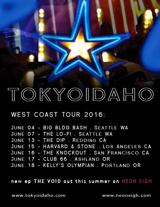 TOKYOIDAHO WEST COAST TOUR 2016
